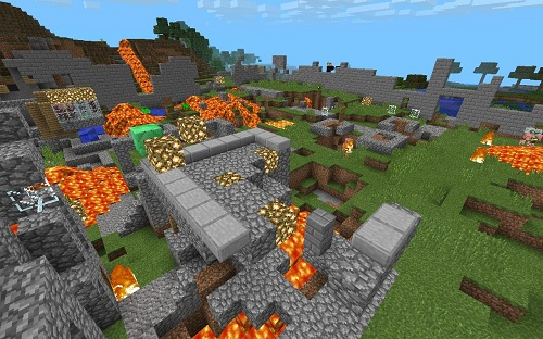 Survival with the inhabitants new map for minecraft for Explore craft survival pe