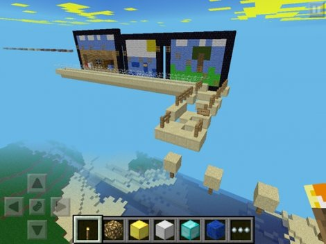 Epic Jump Map - version 2 map for parkour Minecraft Pocket Edition 0.9.5
