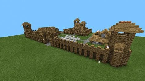 "Map ""Castle"" for Minecraft Pocket Edition 0.9.5"