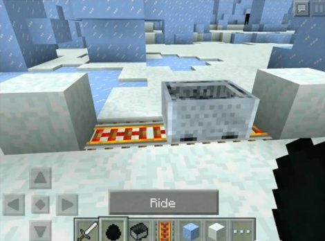 How to make purple snow in Minecraft PE 0.9.5