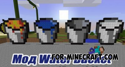 Water Bucket mod for Minecraft PE 0.10.0