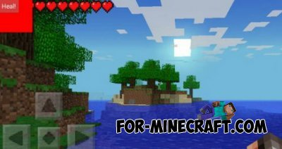 Heal Botton mod for Minecraft PE 0.9.5