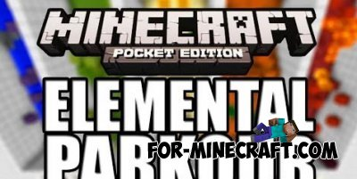 Elementar parkour map for Minecraft PE 0.10.0