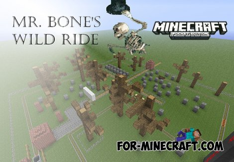 Mr Bones' Wild Ride map for MCPE 0.10.0