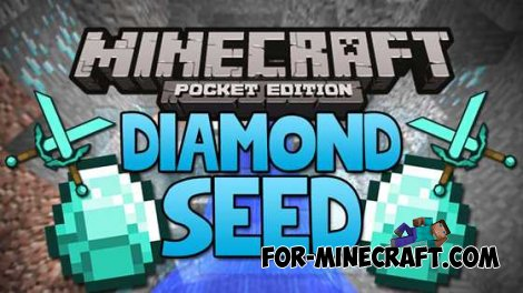 "Seed the village ""Diamond Falls"" for Minecraft Pocket Edition 0.10.0"