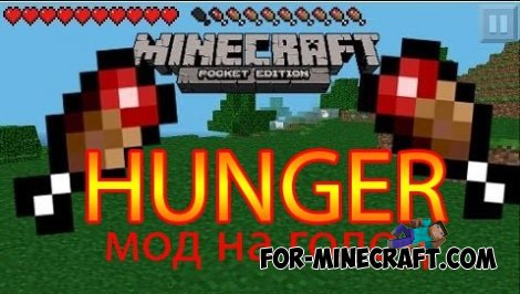 Hunger mod for Minecraft PE 0.10.X