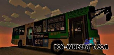 Bus map for Minecraft Pocket Edition