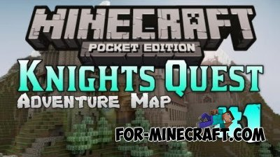 THE KNIGHT'S QUEST map for Minecraft PE 0.10.4