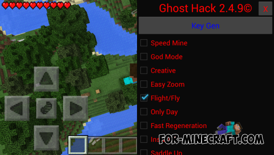 Ghost Hack for Minecraft Pocket Edition 0.10.4