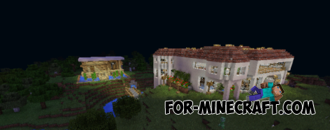 Survival Mansion map for Minecraft PE 0.10.4