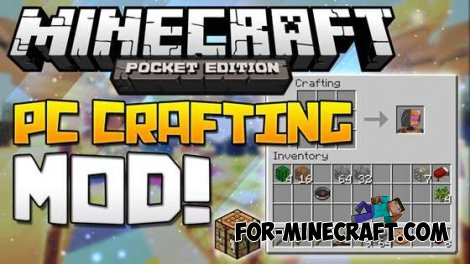 PC Crafting mod for MCPE 0.10.4