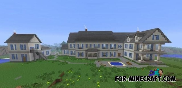 Big House For MCPE - Minecraft house map download