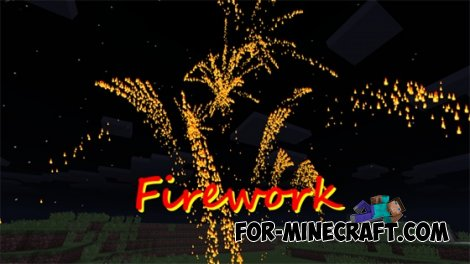 Firework mod for Minecraft Pocket Edition 0.10.4