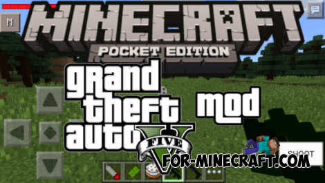 GTA V mod for Minecraft PE 0.10.4