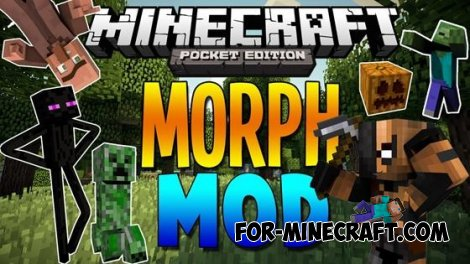 Morph Victim mod for Minecraft Pocket Edition 0.10.4