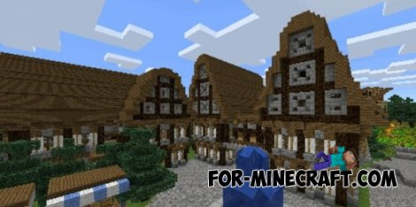Medieval village map for Minecraft PE 0.10.5