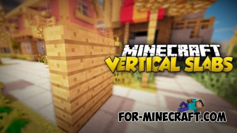 Vertical Slabs mod for Minecraft PE 0.10.5