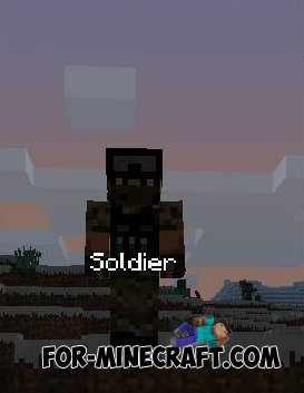 Soldier mod for Minecraft PE