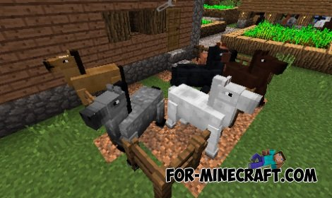 Horses Mod for Minecraft PE 0.10.5