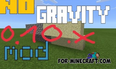 No Gravity mod for minecraft pe 0.10.5