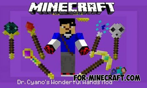 Dr. Cyano's Wonderful Wands mod for Minecraft PE 0.10.5