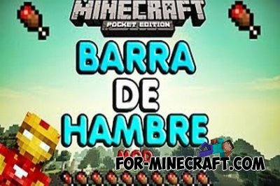 Barra De Hambre mod for Minecraft Pocket Edition 0.10.5