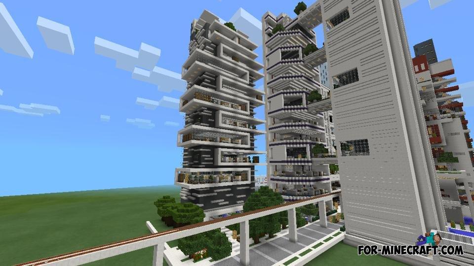 NXUS Modern City map for Minecraft PE 0.10.X