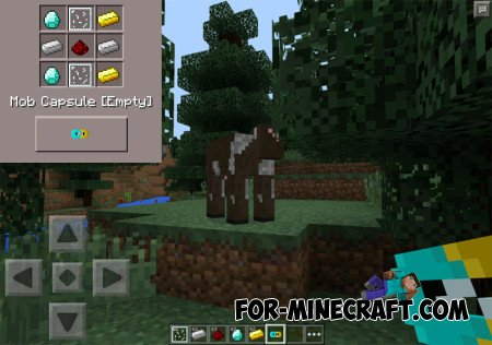 Mob Capsule mod for Minecraft Pocket Edition 0.10.5