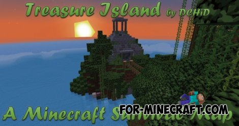 Treasure Land updated 2 map for Minecraft PE 0.10.5