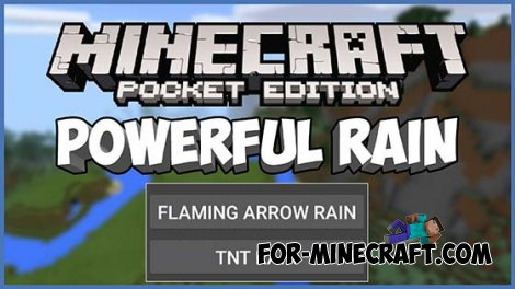 Powerful Rain mod for MCPE 0.10.5