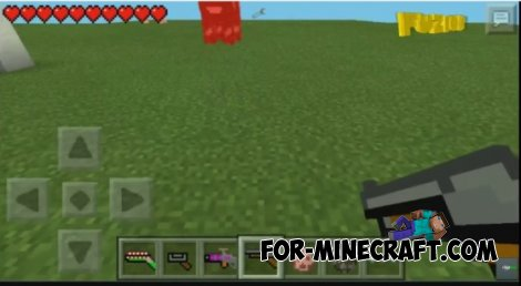 how to get guns in minecraft pe