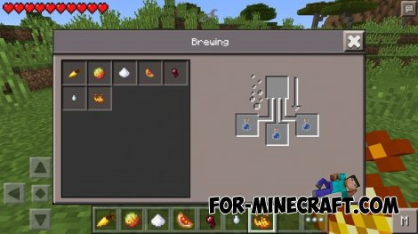 BrewingPE mod for MCPE 0.10.5