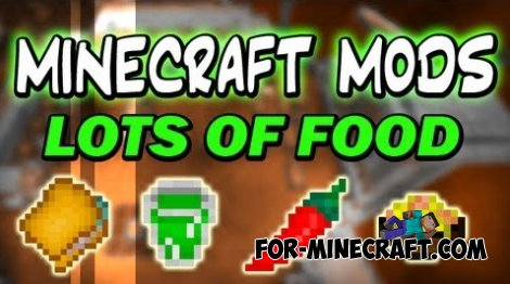 Lots of Food mod v.3 for Minecraft PE 0.10.5