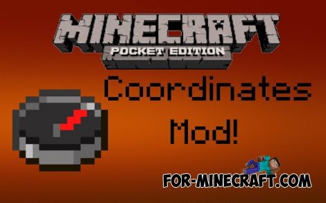 Multiplayer Coordinates mod for Minecraft PE 0.10.5