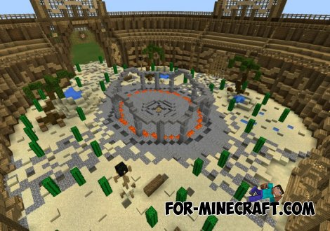 Roman Gladiators Arena map for MCPE 0.10.5 / 0.11.0