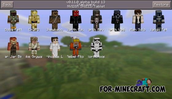 More Skin Packs Mod For MCPE - Skins para minecraft pe 0 15 2
