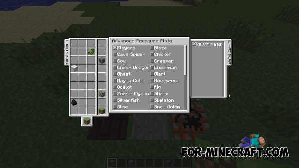 Iron pressure plate mod for minecraft