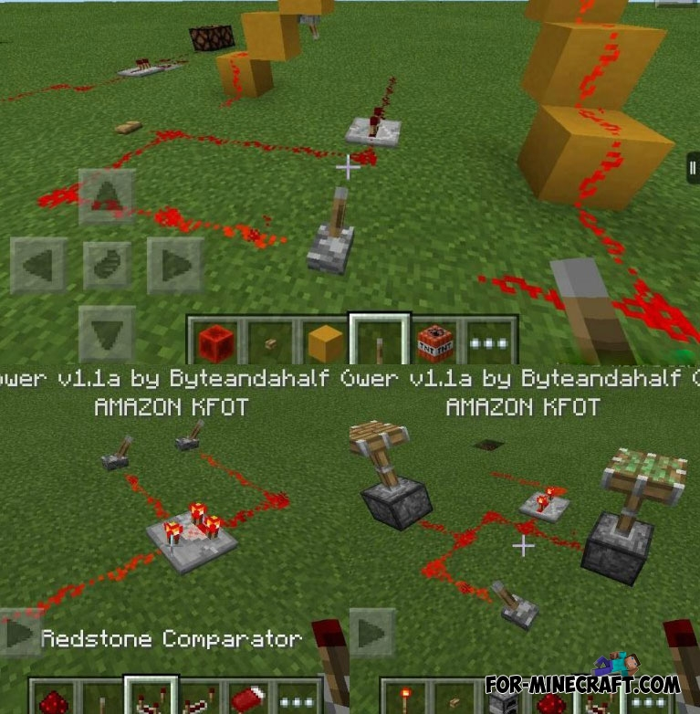 how to use an observer in minecraft pe