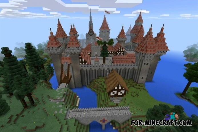 Ch 226 Teau Castle Map For Mcpe 0 11 1