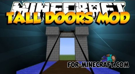 Tall Doors mod for Minecraft 1.7.10 / 1.7.2