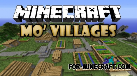 Mo 'Villages mod for Minecraft 1.7.10
