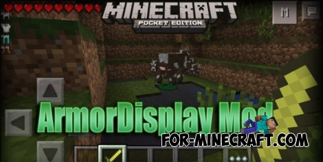 ArmorDisplay Mod for Minecraft PE 0.11.1 / 0.11.0