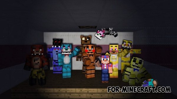 how to build a fnaf map in minecraft