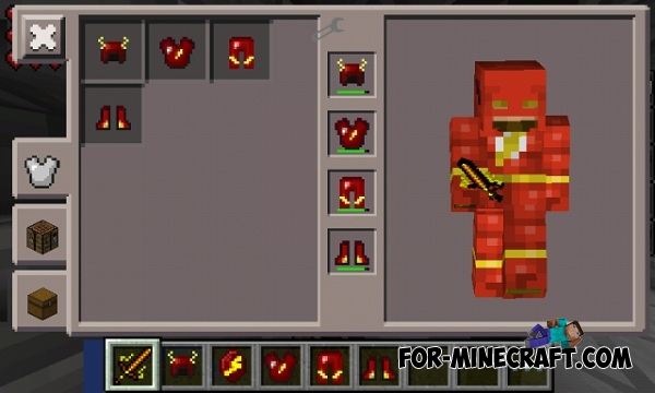 The Flash Mod For Minecraft PE Page - Skins para minecraft pe flash