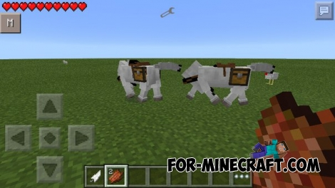 Horse mod for Minecraft PE 0.11.1 / 0.11.0