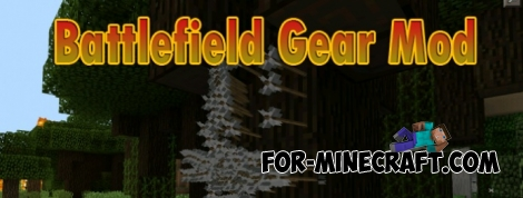 Battlefield Gear Mod for Minecraft PE 0.11.1 / 0.11.0