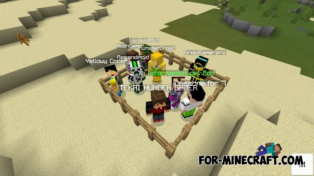 Minecraft PE YouTubers Mod For Minecraft PE X - Skins para minecraft youtubers