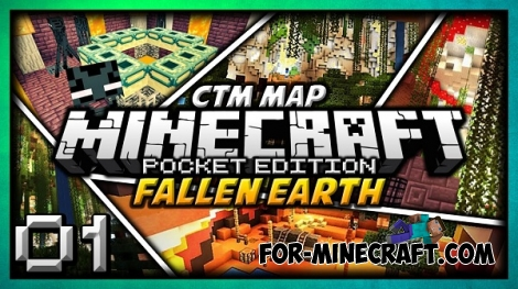 Fallen Earth map for Minecraft PE 0.12.1