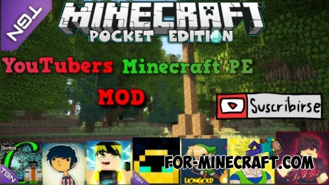 Minecraft PE YouTubers mod for Minecraft PE 0.12.X