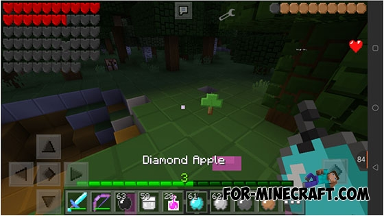 how to get apples in minecraft pe
